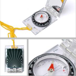 ACE CAMP FOLDABLE MAP COMPASS WITH MIRROR